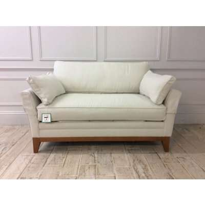 Exmouth Loveseat Sofa Bed in 100% Linen Candle