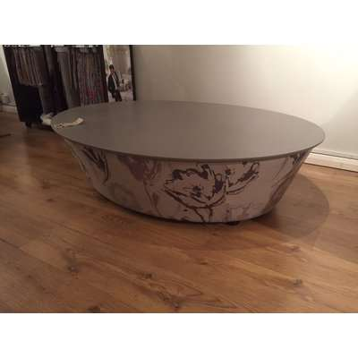Flavia Coffee Table Oval with Storage