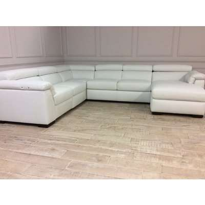 Francesca U Shaped Sofa in 10BY with Electric Recliner