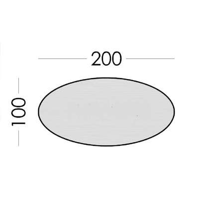 Goya Large Oval Adaptable Dining Table
