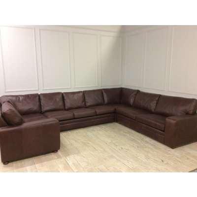Large u shaped sloane corner sofa in Crystal Hazel