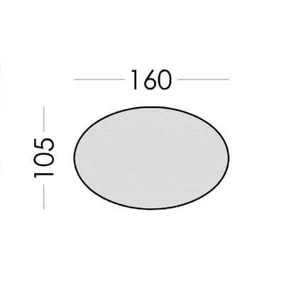 Miro Medium Oval Adaptable Dining Table