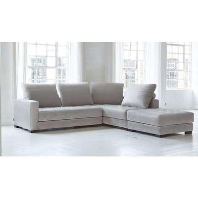 Morellia Modular 3x1 Seater Corner Sofa With Large Footstool [MB1+MB1+PUF100]