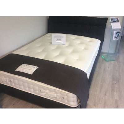 Northcote King Size Bed Frame in Harbour Midnight Fabric + Portobello Supreme 2400 pocket sprung mattress
