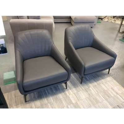 Savoy Leather Chair in Premium Leather 15D1 (2 Available)