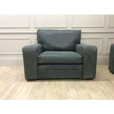 Sloane 1.5 Seater Sofa in Devil Grigio Leather