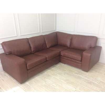 Sloane 2.5 x 1.5 seater corner sofa in Dune hazel leather (3 units)