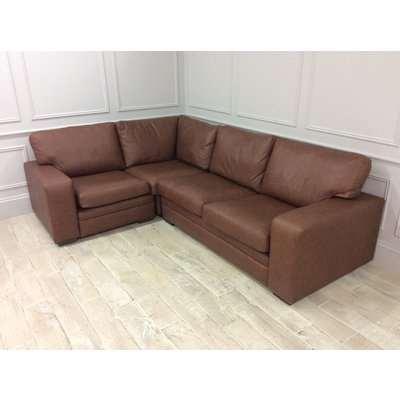 Sloane 3 x1.5 Seater Corner Sofa in Saloon Whiskey Leather