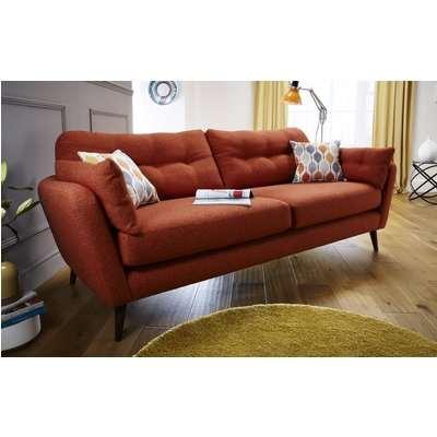 Studio Large Sofa (Hard Wearing Velvet - Indigo)