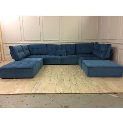 U shaped Alice corner sofa in SMOOTH VELVET - BELLAGIO 626
