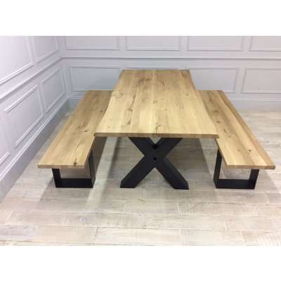 Woodstock Dining Table 200cm with accompanying Woodstock Benches 200cm
