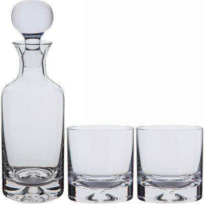 Dimple Decanter & Old Fashioned Whisky Glass Pair - Packaged in a presentation box