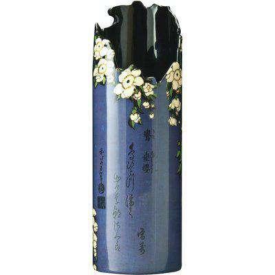 Silhouette D'art Vase - Hokusai - Bird/Flowers