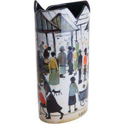 Silhouette D'art Vase - Lowry - Market Scene