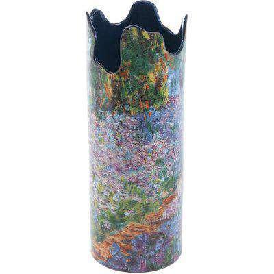 Silhouette D'art Vase - Monet - Irises in Garden