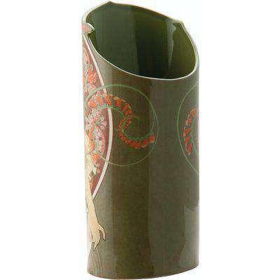 Silhouette D'art Vase - Mucha - Art Nouveau