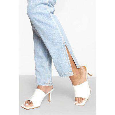 Croc Square Toe Chunky Mules