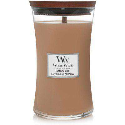 Large Hourglass Golden Milk Candle