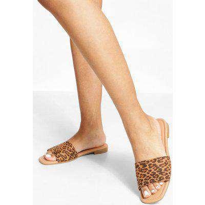 Leopard Square Toe Sandals