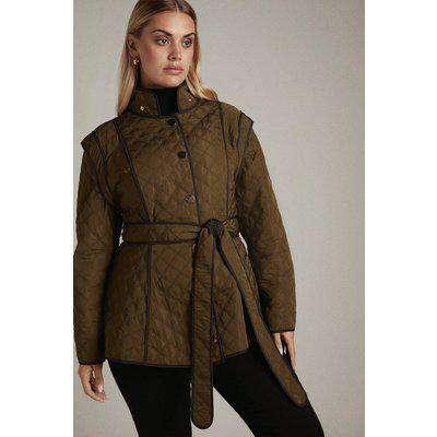 Lydia Millen Curve Short Peplum Quilt Jacket