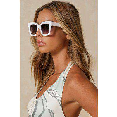 Oversized Thick Frame Square Sunglasses