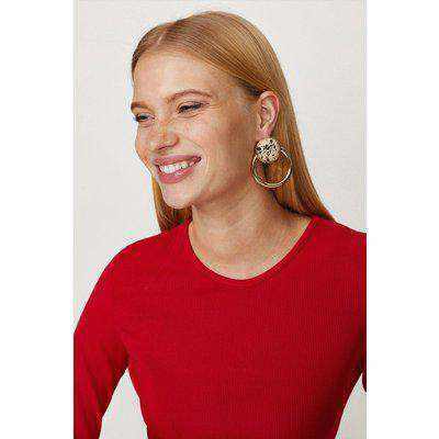 Printed Double Hoop Earrings