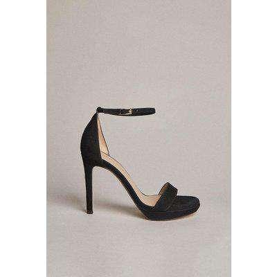 Suede Square Toe Platform Sandal