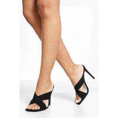 Wide Fit Crossover Square Toe Mule