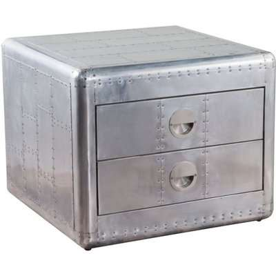 Aviator Side Table in Aluminium Metal Finished