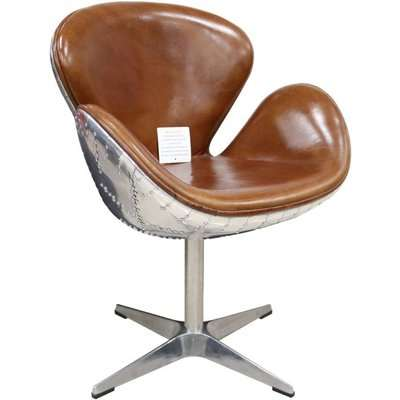 Aviator Vintage Distressed Leather Club Chair