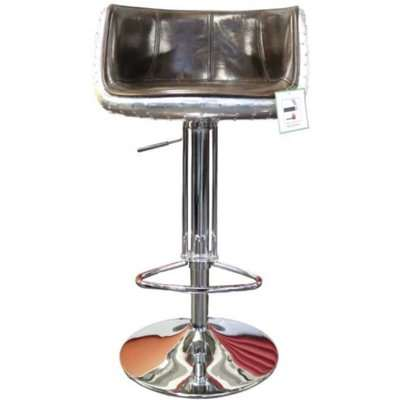 Aviator Vintage Tobacco Distressed Real Leather Barstool