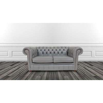 Belvedere Chesterfield 4 Seater Antique Leather Sofa, Brown