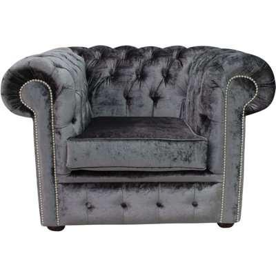 Buy Storm Belvedere Velvet Chesterfield club chair…