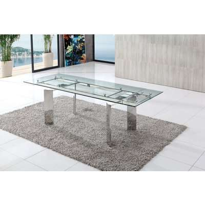 Chelsom Contemporary Glass Dining Table