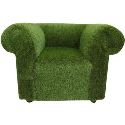 Chesterfield Artificial Grass Low Back Club Chair