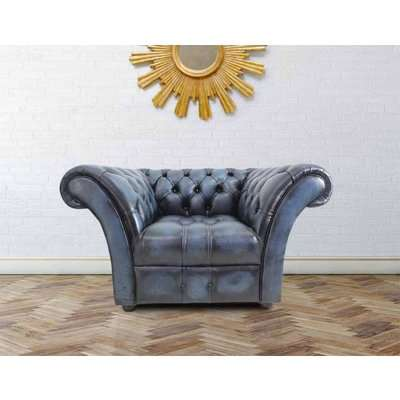 Chesterfield Balmoral 3+Club Chair Sofa Suite Byron Conker Leather