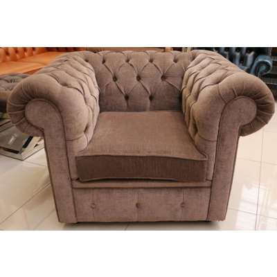 Chesterfield Club Chair Low Back Chair Brown