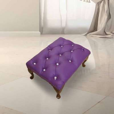 Chesterfield Crystal Queen Anne Footstool UK Manufactured…