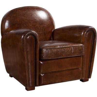 Distressed Leather Vintage Club Chair