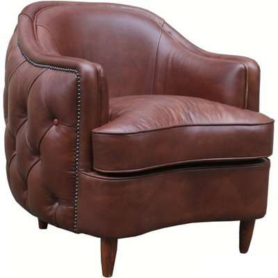 Harrowgate Chesterfield Buttoned Club Chair Vintage Leather