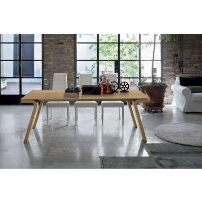 Maciste 180 cm Extendable Dining Table Natural Veneered Legs…