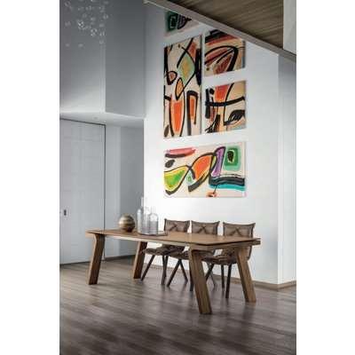 Maciste 220 cm Extendable Dining Table Walnut Veneered Legs…