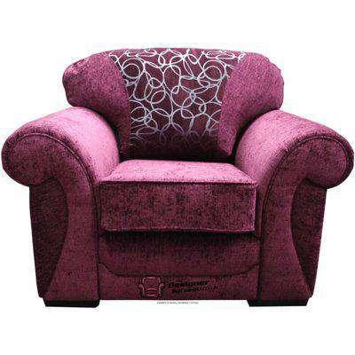 Oasis Armchair Sofa Fabric Sofa Carlton Aubergine
