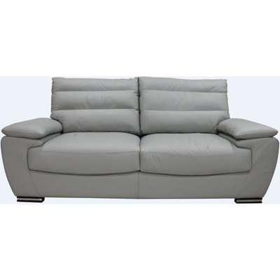 Pavia Genuine Italian Leather 3+1 Seater Sofa Suite Light Grey