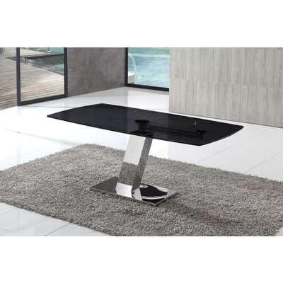 Portmand Black Glass Dining Table