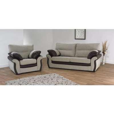Shaban 3 + 1 seater fabric sofa