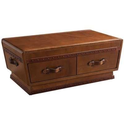 Sloane Vintage Leather Coffee Table