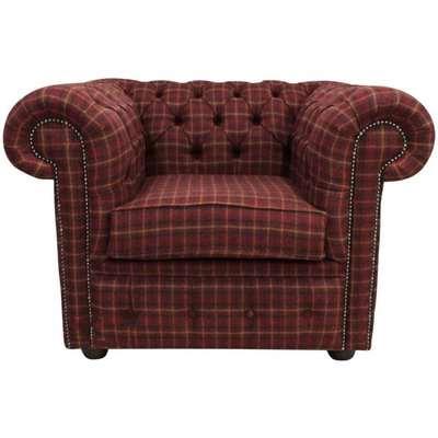 Tartan wool Chesterfield club chair | DesignerSofas4U