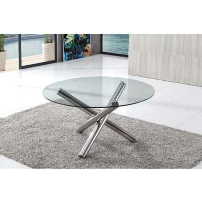 Tilbury Contemporary Round Glass Dining Table