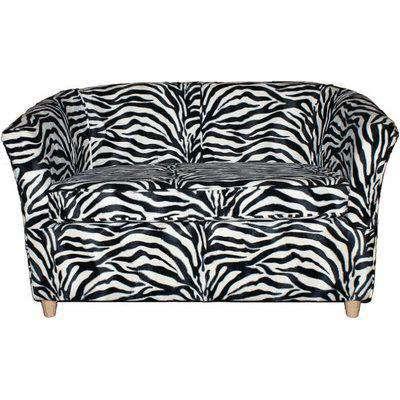 Tub Chair Sofa Velour Fabric Bucket Chair Animal Print Zebra